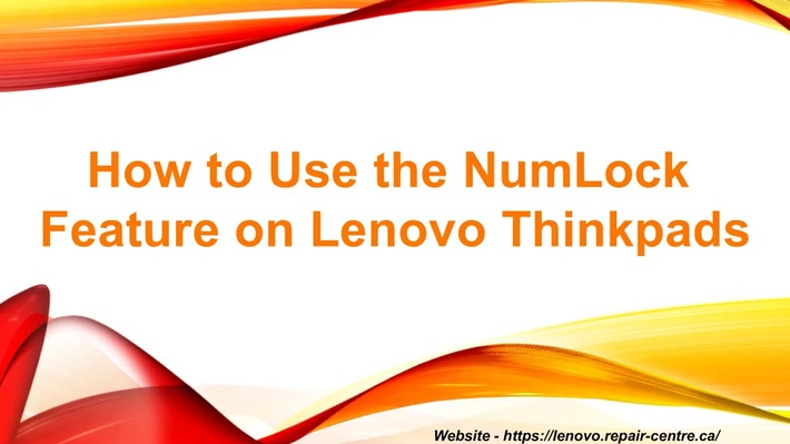 Step to using the NumLock Feature on Lenovo Thinkpads