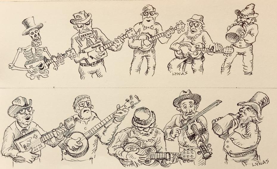Drawings for Jim's window Guitar