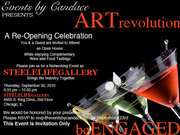 Join Steelelife Gallery as our VIP Guest at A Re-Opening Celebration