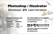 Photoshop/Illustrator Workshops