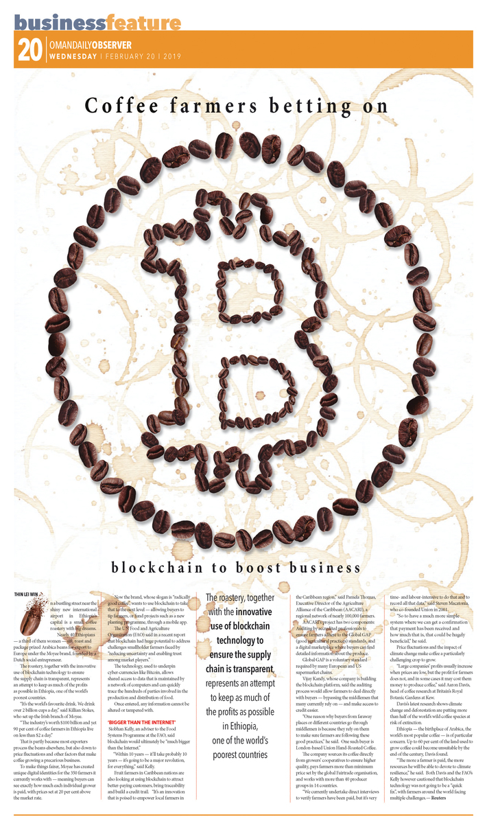 Coffee farmers betting on blockchain to boost business