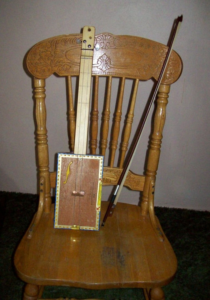 2 string cigar box fiddle