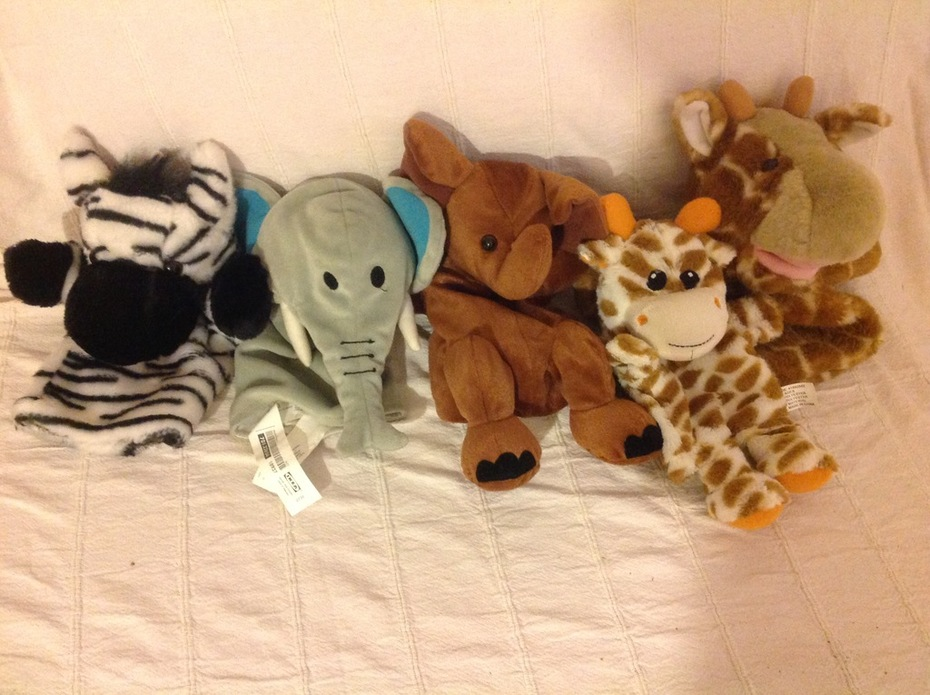 African Animal Glove Puppets