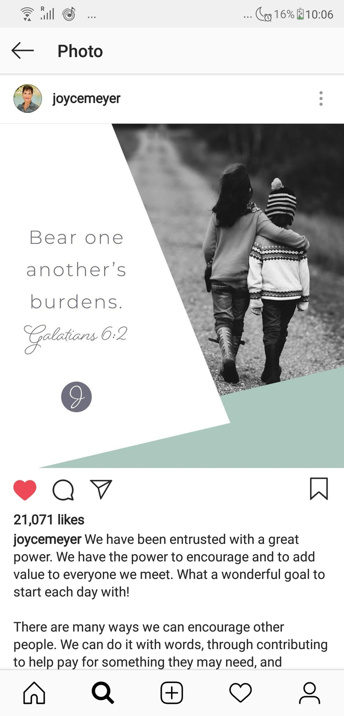 Bear one another's burden.