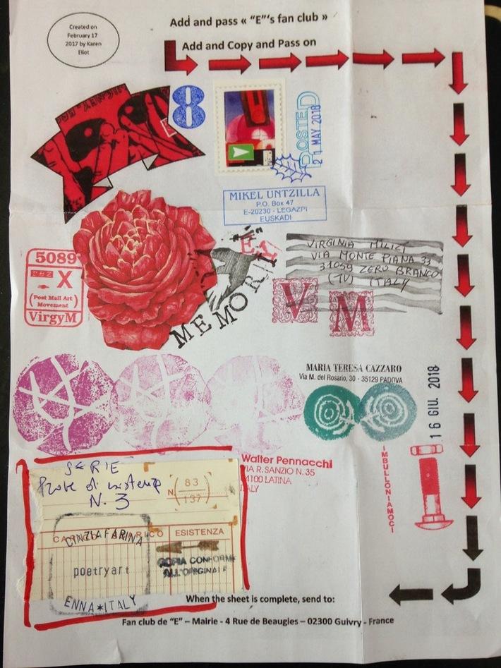 """Cinzia Farina - add and pass """"prove d'esistenza"""" n.3, for Barbara Ruotolo"""