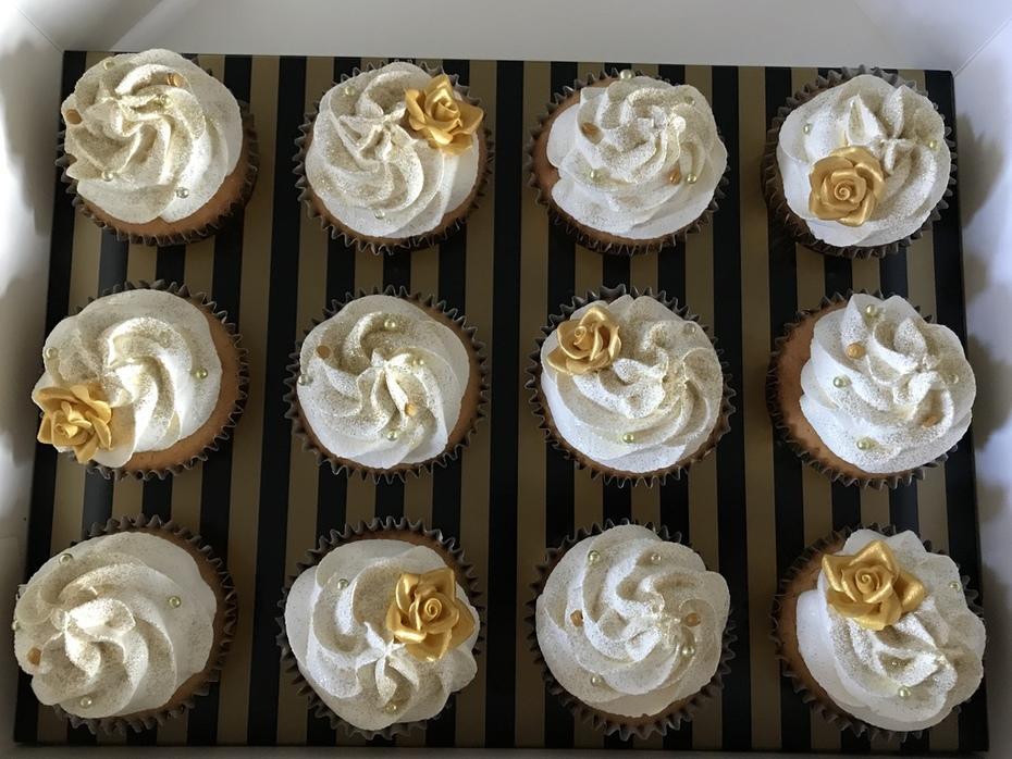Gouden cupcakes