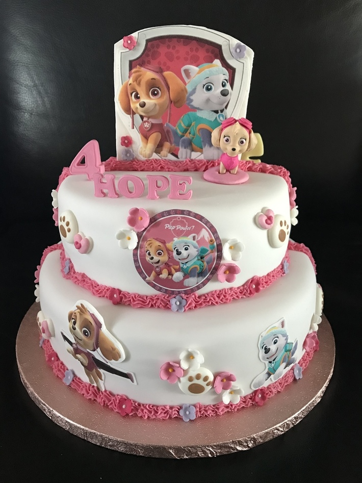 Double sides Paw Patrol taart