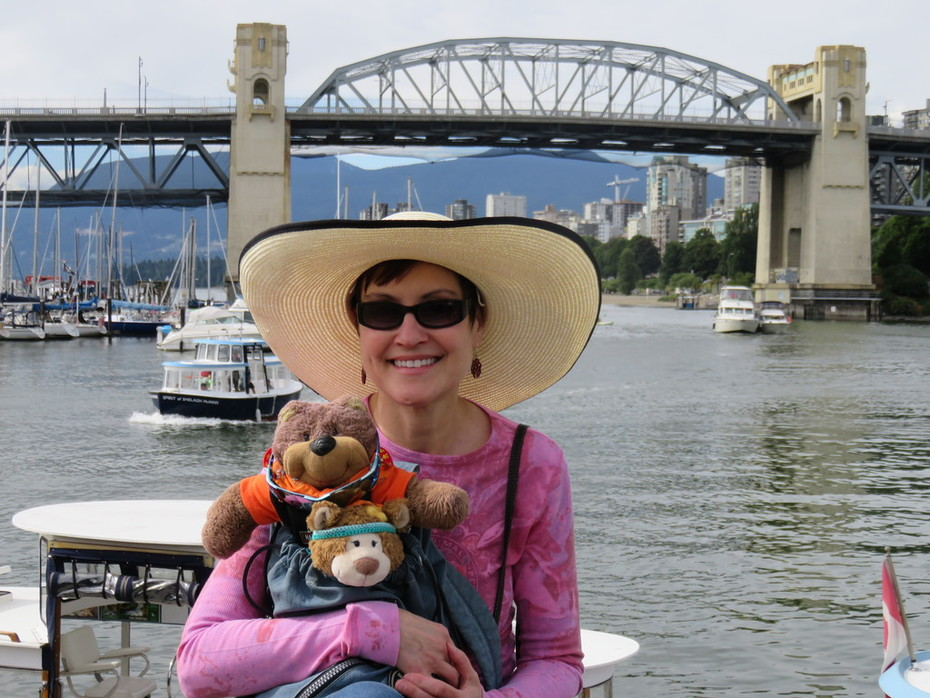 With Teddy Tedaloo on Granville Island