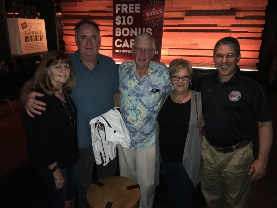 Brian with Mike Carrigan, Jim Snyder & Spouses