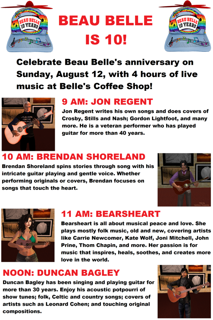Beau Belle 10-Year Anniversary Poster