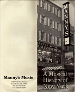 "Manny's ""A Musical History of New York"""