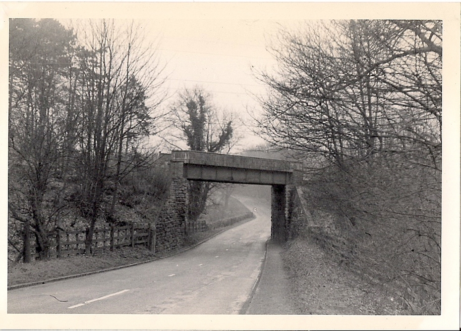 47.2 Feb 18 Bridge carrying Towcester to Ravenstone Wood Junction SMJ line over old A43 near Towcester looking north