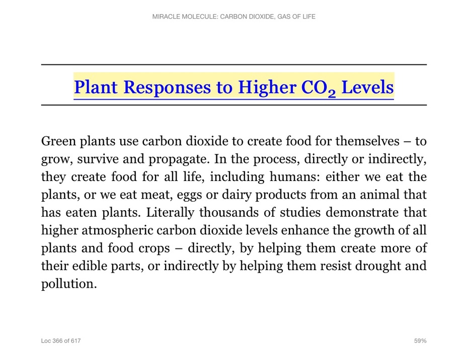 Plant Responses TO Higher Levels Of CO2 are only beneficial, never detrimental and synthesize all of our breathable, life-sustainting Oxygen (O2)