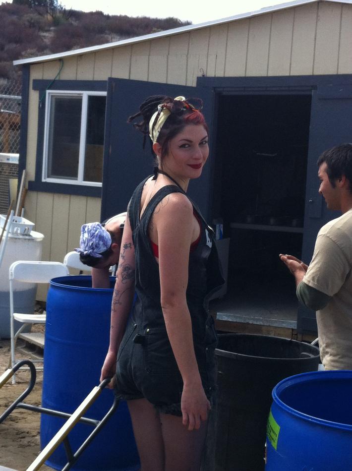 Chelsea as Rosie the Riveter