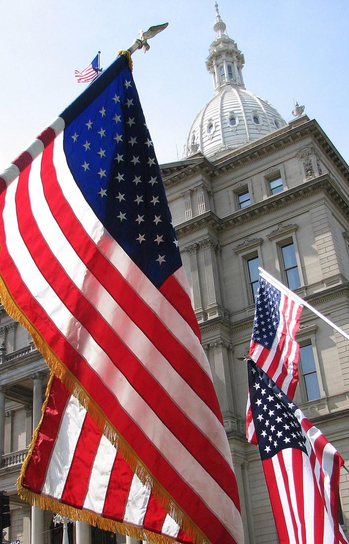 4-15-10 Lansing Michigan Tea Party rally 14