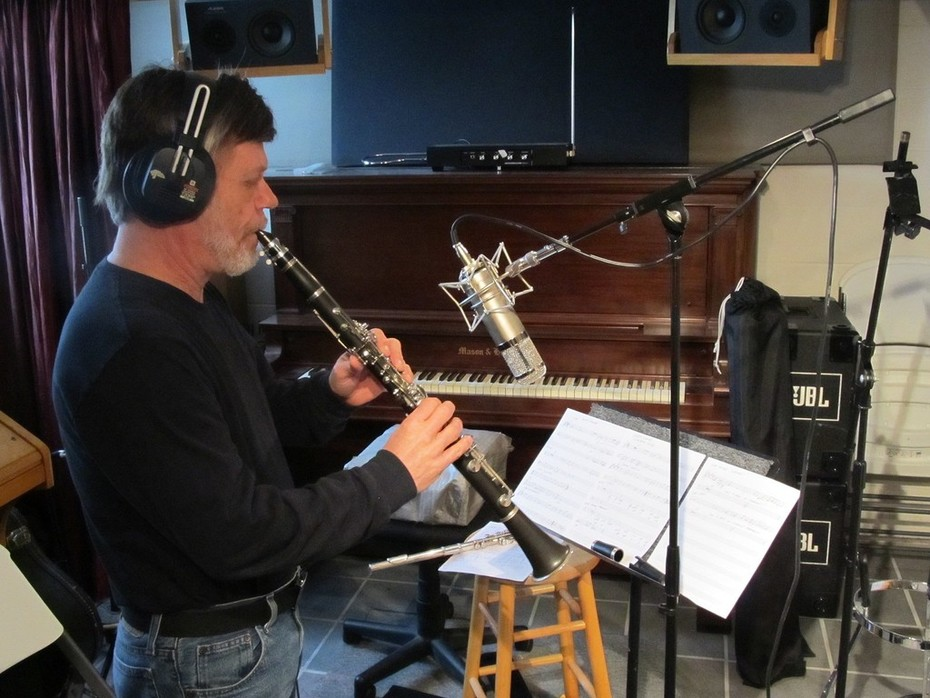 Playing Clarinet on a session!