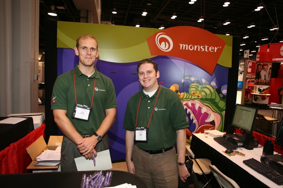 Monster Recruiters & Monster Display -- At National Career Conference