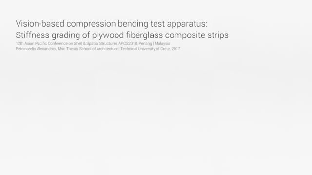 Vision-based compression bending test apparatus: Stiffness grading of plywood fiberglass composite…