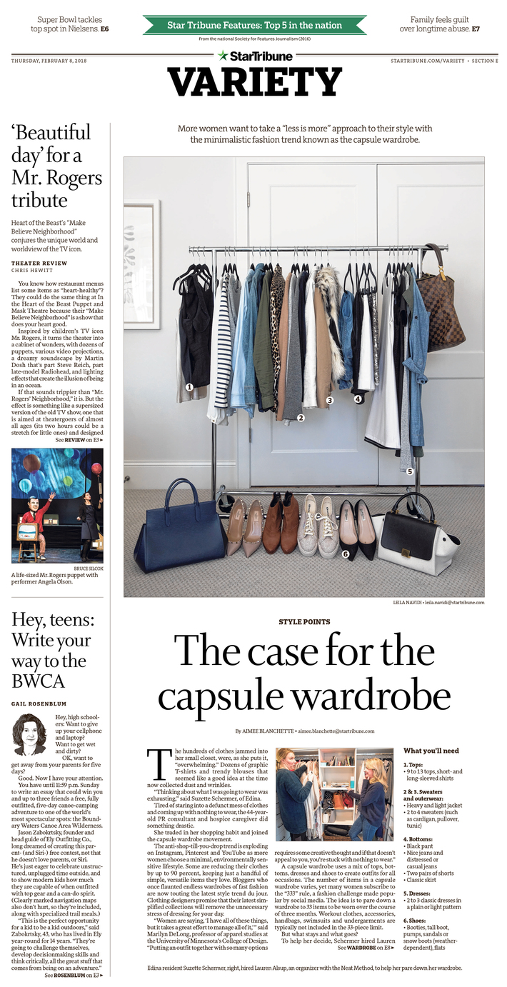 The case for the capsule wardrobe, February 2018