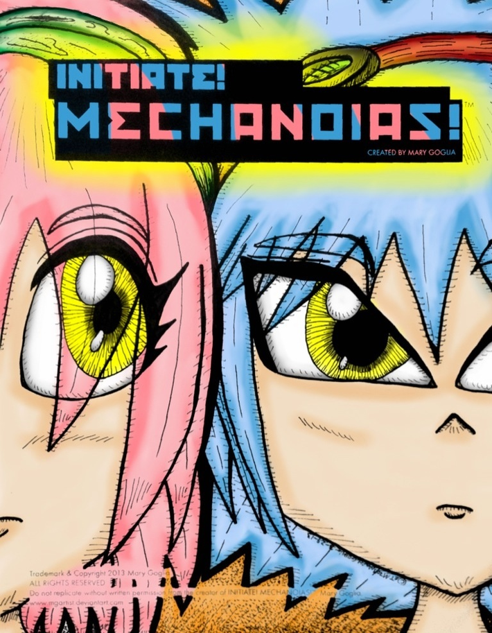 Initiate! Mechanoias[is]! Cover for my upcoming debut webcomic