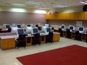 a computer lab in the elementary school