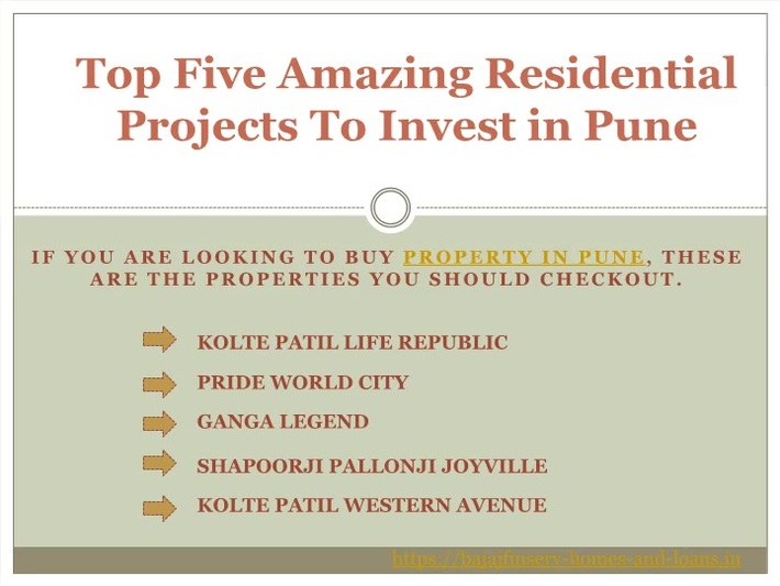 Five Leading residential projects in pune