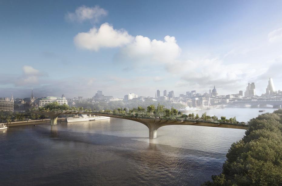 Zelený most ve Westminsteru od Thomas Heatherwick 1