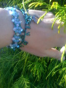 crystal and delica bead bracelets I made
