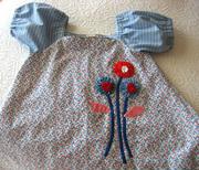 Girl's Custom Appliqued Dress