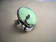 Citron Chrysoprase Ring