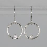 Diamond circles white