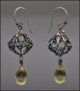Silver Lime Earrings