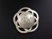White Marble Brooch