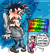 homophobic, but not on gay day!
