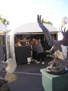 Customers/Eagle in awe of booth