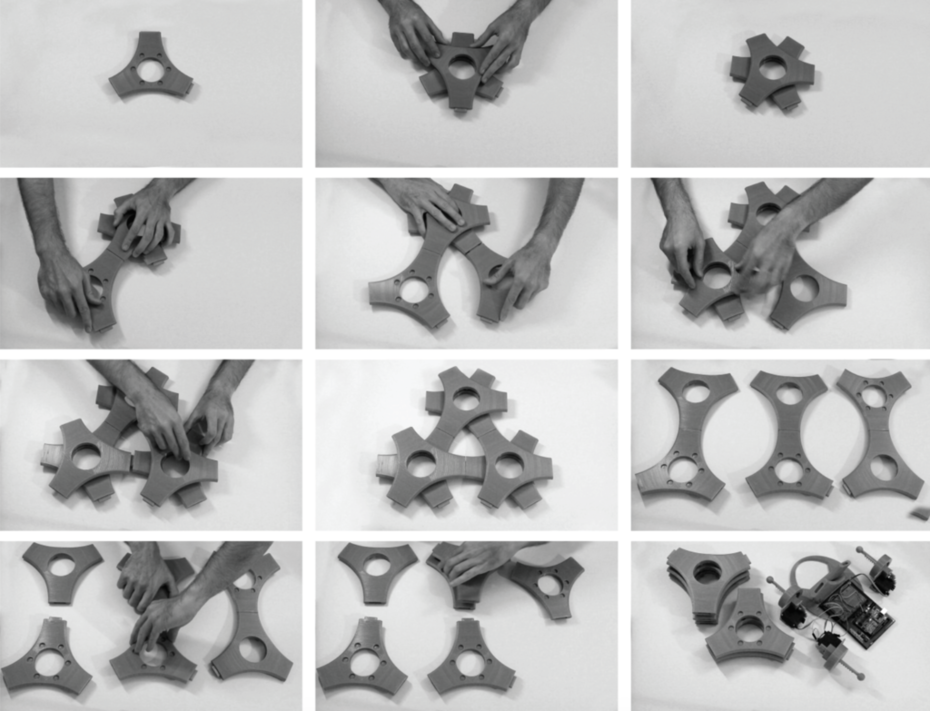 reTESSELLATE: Programmable modular tessellations reactive to environmental conditions.