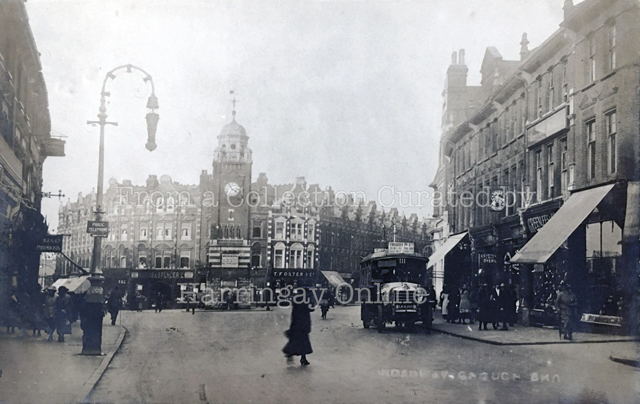 Crouch End Broadway showing M&S c1920
