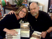 Lawrence Block with fan Holly West at Mystery Bookstore