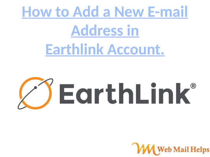 How to add a new email address to your Earthlink Account.