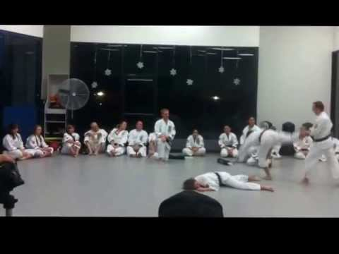 Sensei Oliver Demonstrates During Testing
