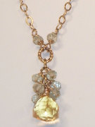 Citrine solitaire Necklace