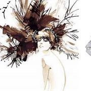 The mystery of beauty illustration by Amelie Hegardt