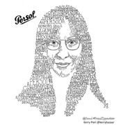 Portrait with Typewriter Lettering – Rikke Jorgensen