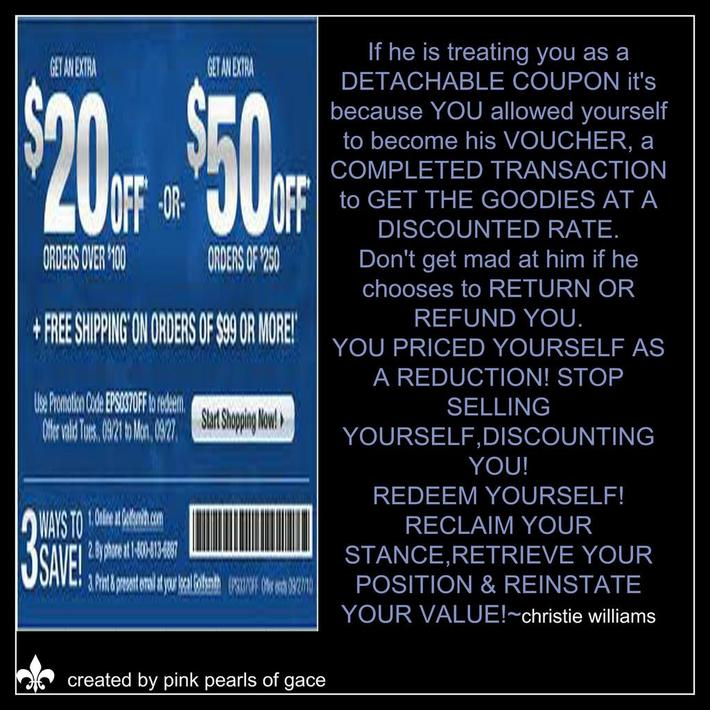 Ladies, We must stop discounting ourselves!