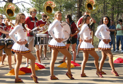 USC Cheerleaders Perform a Cheer