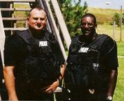 John Pitts on right in SWAT gear.