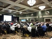 Precision Agriculture Conference Keynote Speaker Lisa Prassack talking to a full room about Big Ag Data