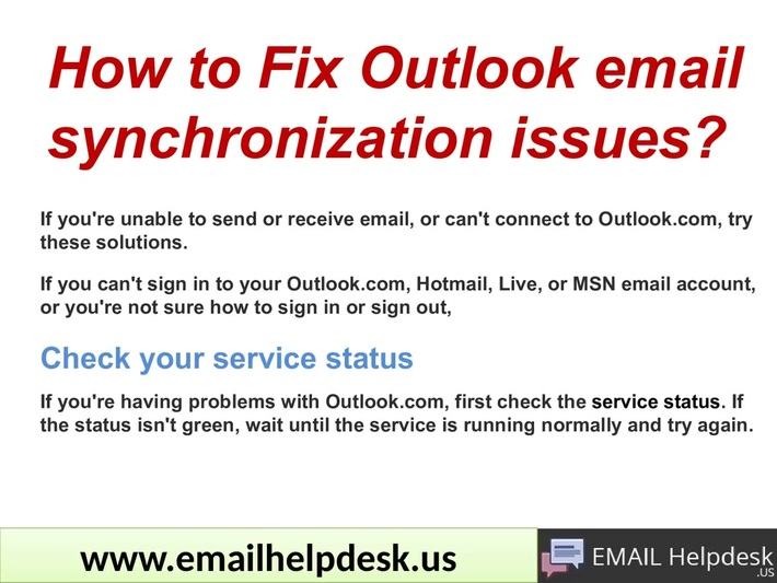 How to Fix Outlook email synchronization issues