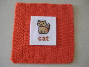 MARCH - A is for Apple - Lesley's cross stitch cat