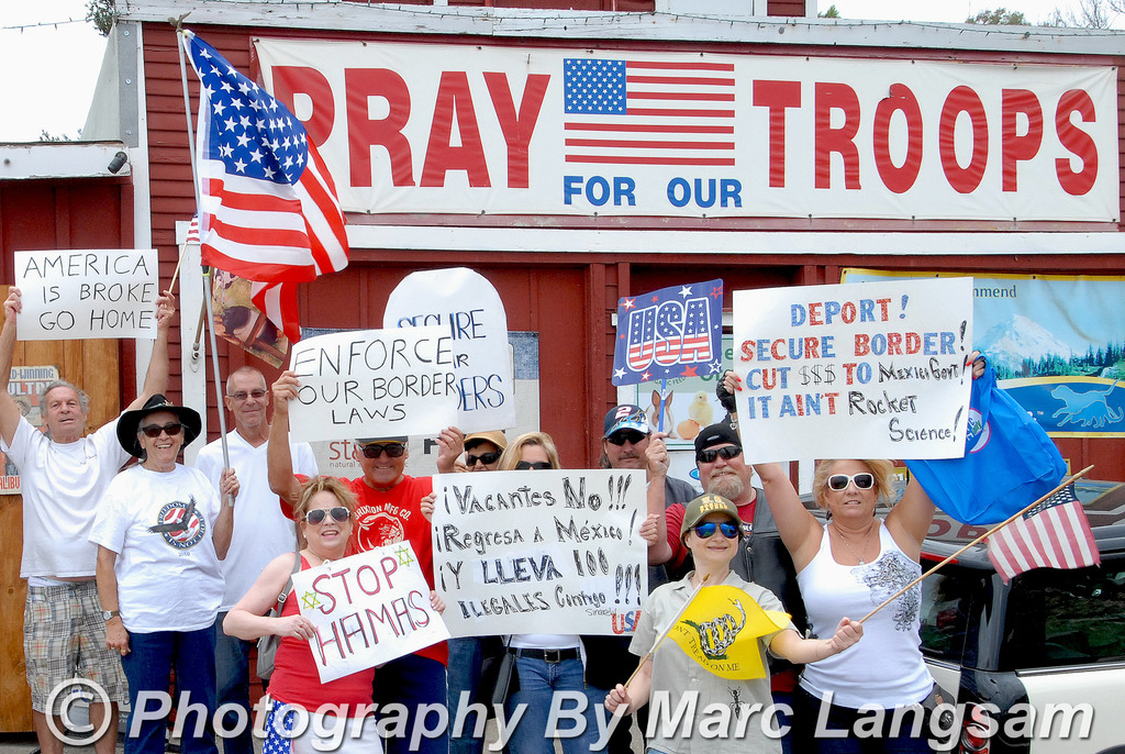 Today on the National Day Of Protesting Against Immigration Reform, Amnesty & Border Surge - From Malibu, California